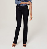 LOFT Tall Curvy Boot Cut Jeans in Dark Rinse Wash