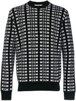 MSGM all over logo sweater