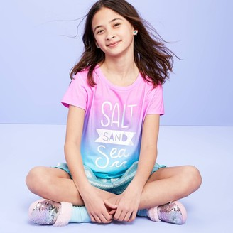 Girls' 'Salt Sand Sea' Pajama Top - More Than MagicTM Magenta