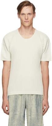 Issey Miyake Homme Plisse Off-White MC June T-Shirt