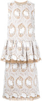Huishan Zhang - embroidered dress - women - Polyester - 8