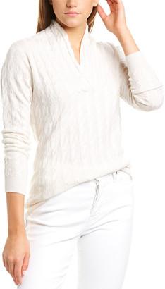 Forte Cashmere Forte Shawl Collar Cashmere Pullover