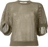 Givenchy fishnet knit jumper