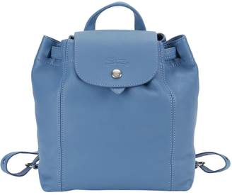 Longchamp Leather Flap-Top Backpack