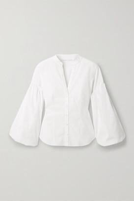 Veronica Beard Aileen Stretch-cotton Blouse - White