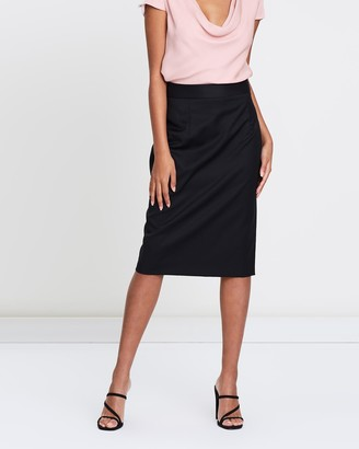 Farage - Women's Black Pencil skirts - Core Goldie Pencil Skirt - Size One Size, 4 at The Iconic