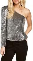 Bardot Women's Sequin One-Shoulder Top