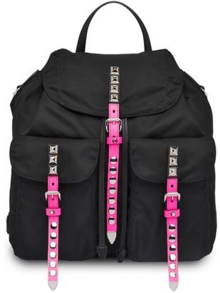 Prada Stud Embellished Backpack