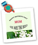 3dRose LLC Ice Bucket - Mothers Day - Happy Mothers Day Mom with image of Lily of the Valley - (qs_211216_2)