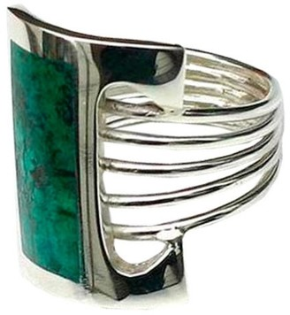 Novica Handmade Sterling Silver Imagination Chrysocolla Cocktail Ring