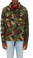 Off-White Men's Camouflage Cotton Field Jacket-GREEN
