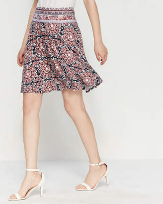 Max Studio Printed Jersey Tulip Skirt