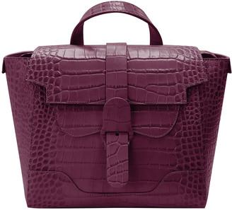 Senreve Mini Maestra Croc-Embossed Convertible Backpack Satchel Bag