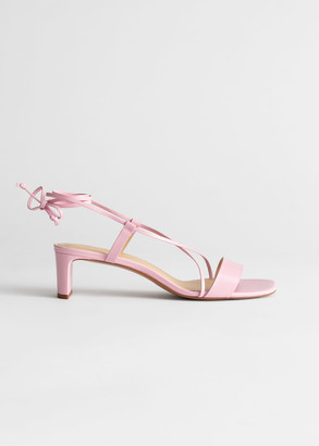 And other stories Criss Cross Lace Up Leather Sandals
