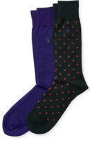 Polo Ralph Lauren Dotted Trouser Sock 2-Pack