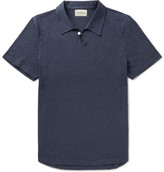 Oliver Spencer - Hawthorn Slim-fit Mélange Cotton-jersey Polo Shirt