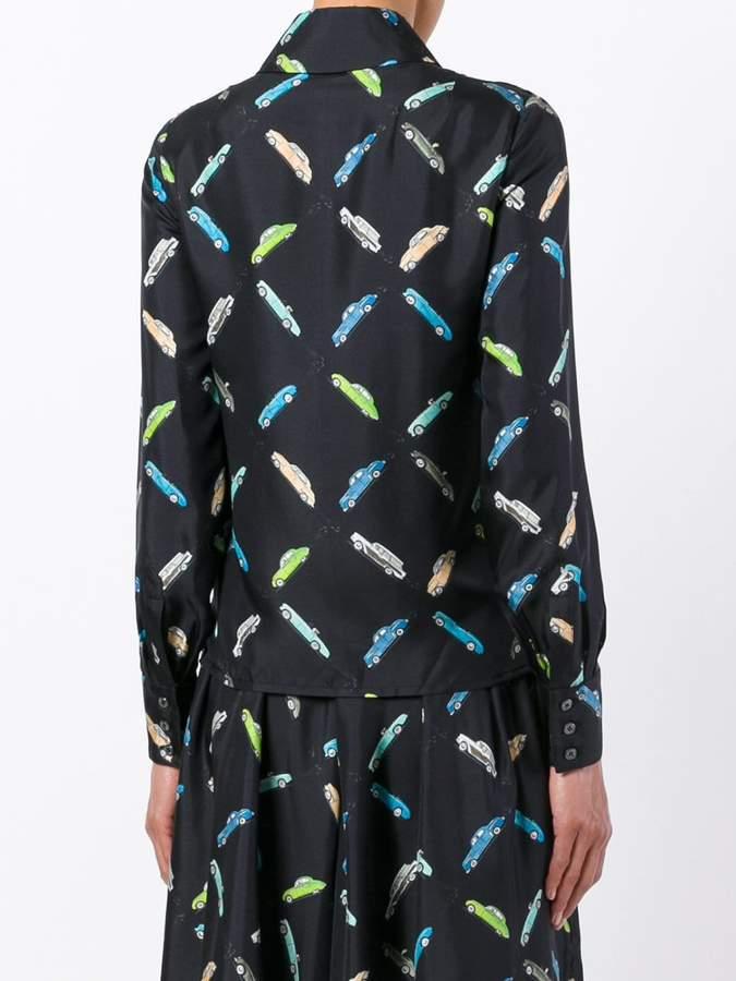 Olympia Le-Tan car print shirt
