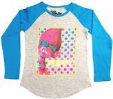 Freeze Trolls Heather Gray Poppy Raglan Top - Girls