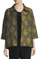Caroline Rose Floral Interest Jacquard Jacket, Plus Size