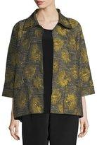 Caroline Rose Floral Interest Jacquard Jacket, Plus Size