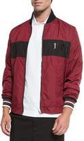 McQ Alexander McQueen Wind-Resistant Logo Jacket, Port