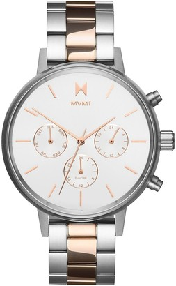 MVMT Womens Analogue Quartz Watch with Gold Tone Stainless Steel Strap D-FC01-S