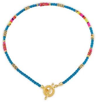 Gas Bijoux Marceau 24K Goldplated & Silk Necklace