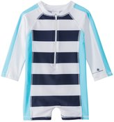 Snapper Rock Boys' Shark L/S One Piece Sunsuit (024mos) - 8155115