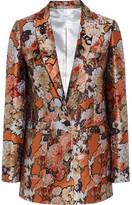 Givenchy Blazer In Metallic Floral-jacquard - Brick