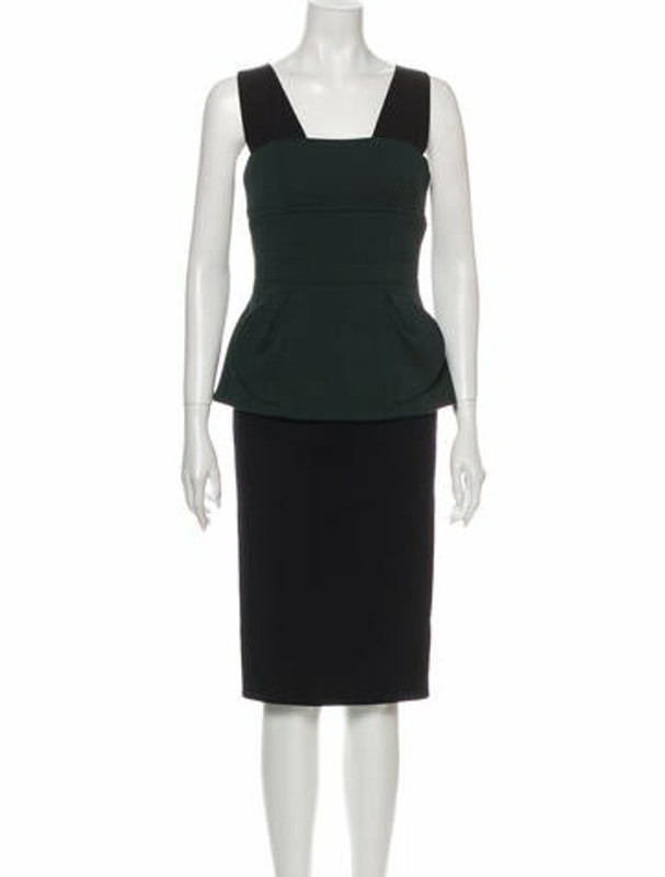 Marc Jacobs Wool Midi Length Dress Wool