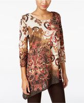 JM Collection Printed Asymmetrical Tunic, Only at Macy's