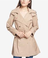 Tommy Hilfiger (トミー ヒルフィガー) - Tommy Hilfiger Water-Resistant Petite Hooded Belted Trenchcoat