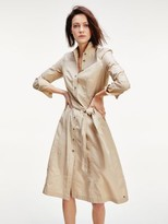 Tommy Hilfiger Belted Pure Cotton Shirt Dress