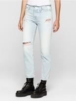 Calvin Klein Jeans Boyfriend Fit Light Blue Distressed Jeans
