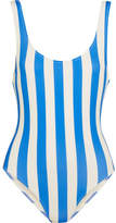 Solid and Striped - The Anne-marie Striped Swimsuit - Light blue