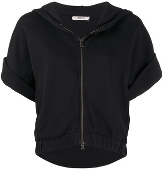 Dorothee Schumacher Short-Sleeved Zip-Up Hoodie