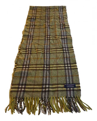 Burberry Green Cashmere Scarves