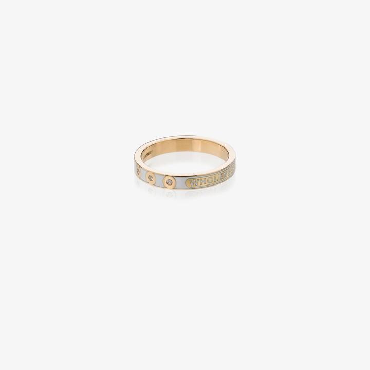 Foundrae 18K yellow gold Wholeness diamond ring
