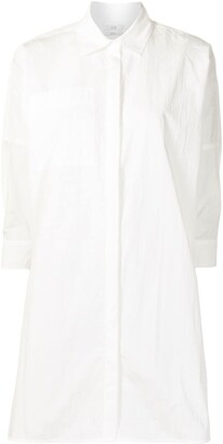Co Patch-Pocket Longline Crinkle Shirt