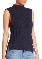 Derek Lam 10 Crosby Ribbed Sleeveless Top