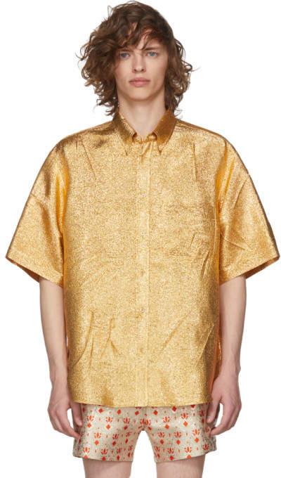 Gucci Gold Lurex Shirt
