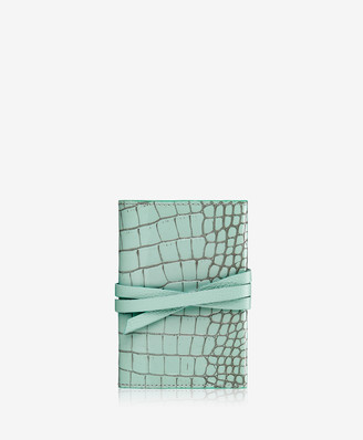 GiGi New York Charger Roll, Mint Crocodile Embossed Leather