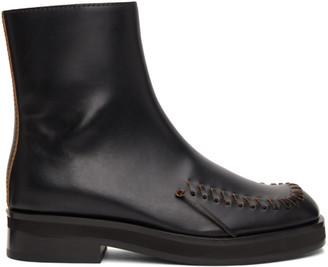 J.W.Anderson Black Antick Boots