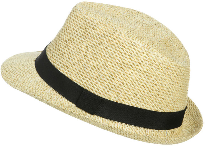 Arden B Natural Straw Fedora