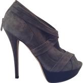Burberry Anthracite Velvet Ankle boots