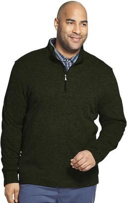 Van Heusen Big & Tall Classic-Fit Sweater Fleece Quarter-Zip Pullover