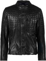 Mustang Bryce Leather Jacket Black
