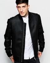 Antony Morato Wool-mix Bomber Jacket - Black