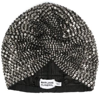 MaryJane Claverol Crystal Embellished Turban