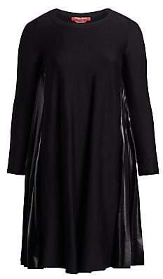Marina Rinaldi Marina Rinaldi, Plus Size Women's Occupato Mixed Media A-Line Dress